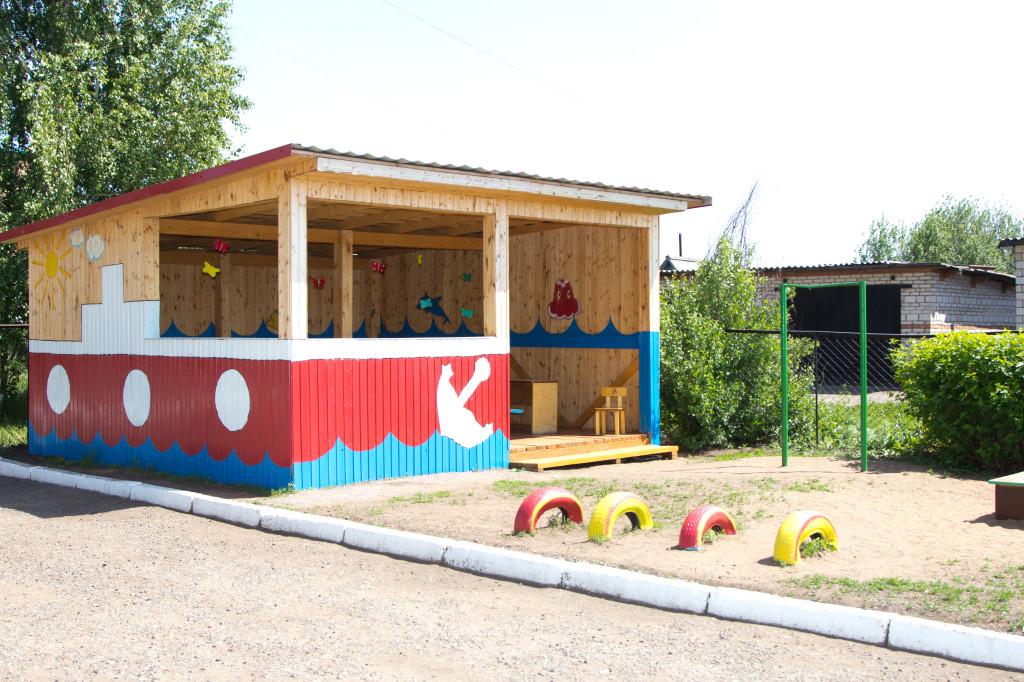 Оформление беседки детского сада своими руками фото